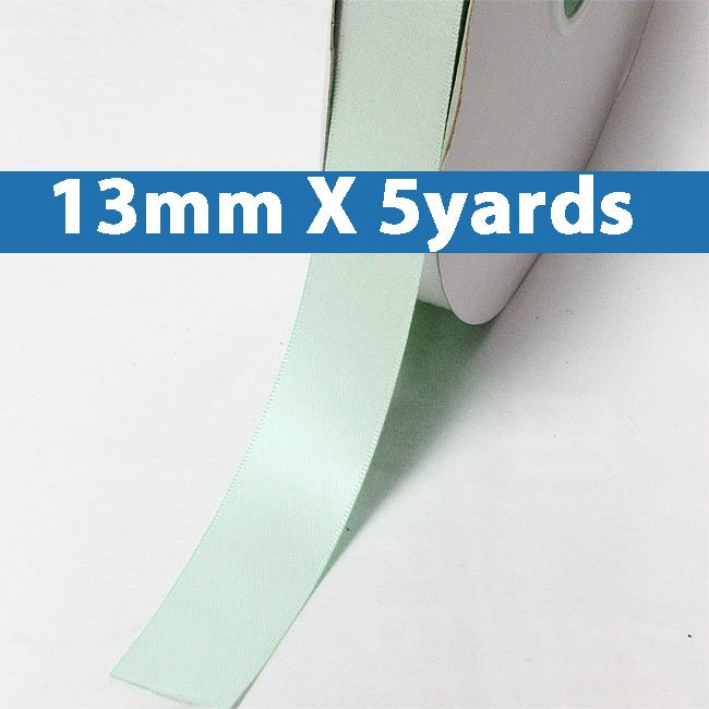 "# 313 crystalline Color 13mm/0.5"" Wide 5 Yards Double Faced Satin Ribbon (#28800 X5 Yards)"