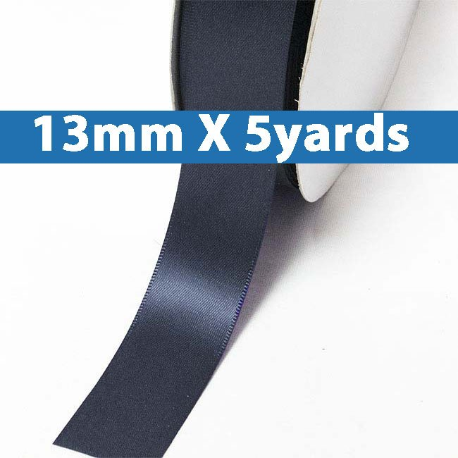 "# 330 dresden blue Color 13mm/0.5"" Wide 5 Yards Double Faced Satin Ribbon (#28800 X5 Yards)"