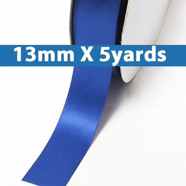 "# 350 royal Color 13mm/0.5"" Wide 5 Yards Double Faced Satin Ribbon (#28800 X5 Yards)"