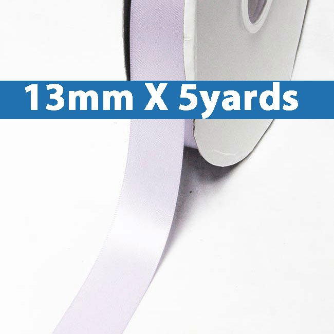 "# 420 lilac mist Color 13mm/0.5"" Wide 5 Yards Double Faced Satin Ribbon (#28800 X5 Yards)"