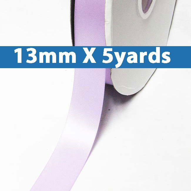 """# 430 lt.orchid Color 13mm/0.5"""" Wide 5 Yards Double Faced Satin Ribbon (#28800 X5 Yards)"""