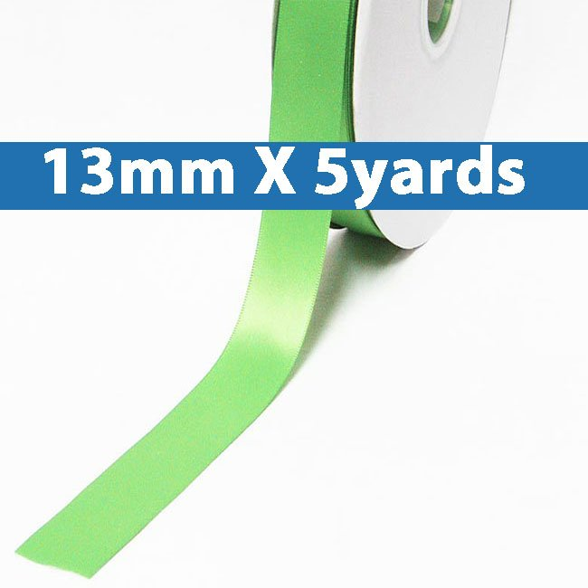 """# 530 mint Color 13mm/0.5"""" Wide 5 Yards Double Faced Satin Ribbon (#28800 X5 Yards)"""
