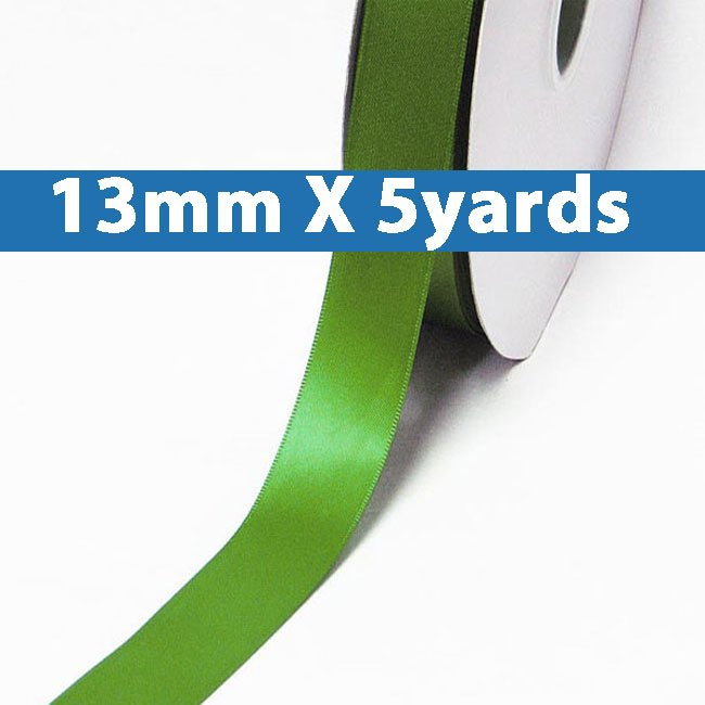 """# 548 kiwi Color 13mm/0.5"""" Wide 5 Yards Double Faced Satin Ribbon (#28800 X5 Yards)"""