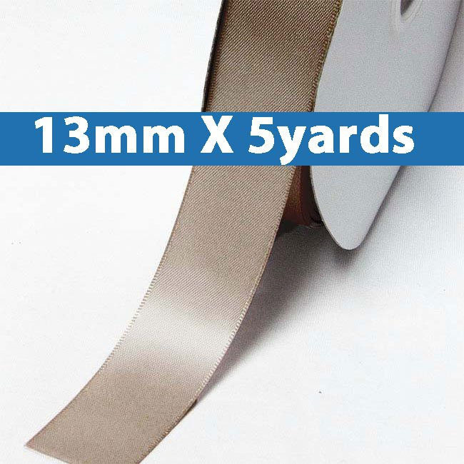 """# 814 ginger snap Color 13mm/0.5"""" Wide 5 Yards Double Faced Satin Ribbon (#28800 X5 Yards)"""