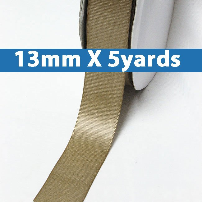 """# 840 ermine Color 13mm/0.5"""" Wide 5 Yards Double Faced Satin Ribbon (#28800 X5 Yards)"""