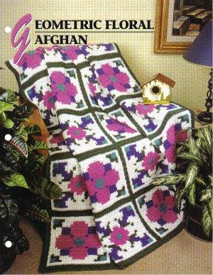 Annie�s Attic Q & A Club~ Geometric Floral Afghan~ Free Shipping