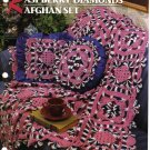 Annie's Attic Q & A Club~ Raspberry Diamonds Afghan Set~ Free Shipping