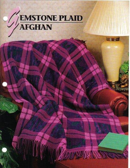 Annie�s Attic Q & A Club~ Gemstone Plaid Afghan~ Free Shipping