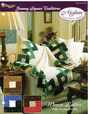 Needlecraft Shop~ Afghan Collector�s Series~ Woven Lattice~ Free Shipping