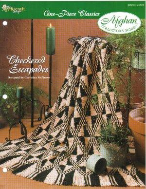 Needlecraft Shop~ Afghan Collector�s Series~ Checkered Escapades~ Free Shipping
