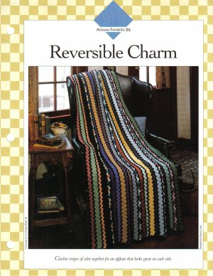 Vanna�s Afghan & Crochet Favorites~ Reversible Charm~ Crochet Pattern~ Free Shipping