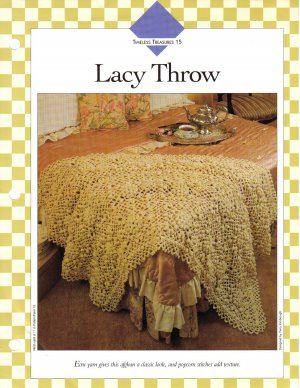 Vanna�s Afghan & Crochet Favorites~ Lacy Throw~ Crochet Pattern~ Free Shipping