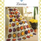 Vanna's Afghan & Crochet Favorites~ Zinnias~ Crochet Pattern~ Free Shipping