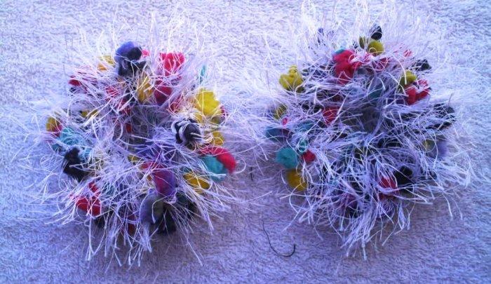 Pigtail Hair Scrunchie Scrunchies Pair~ Wild White~ Free Shipping