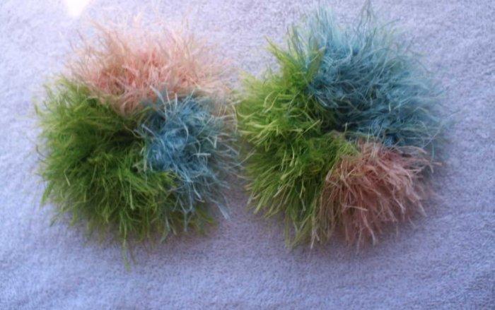 Pigtail Hair Scrunchie Scrunchies Pair~ South Beach~ Free Shipping