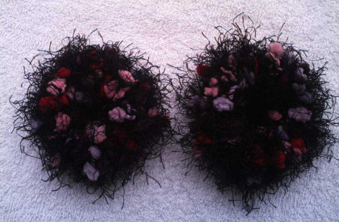 Pigtail Hair Scrunchie Scrunchies Pair~ Mixed Berries~ Free Shipping