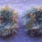 Pigtail Hair Scrunchie Scrunchies Pair~ Pastel~ Free Shipping