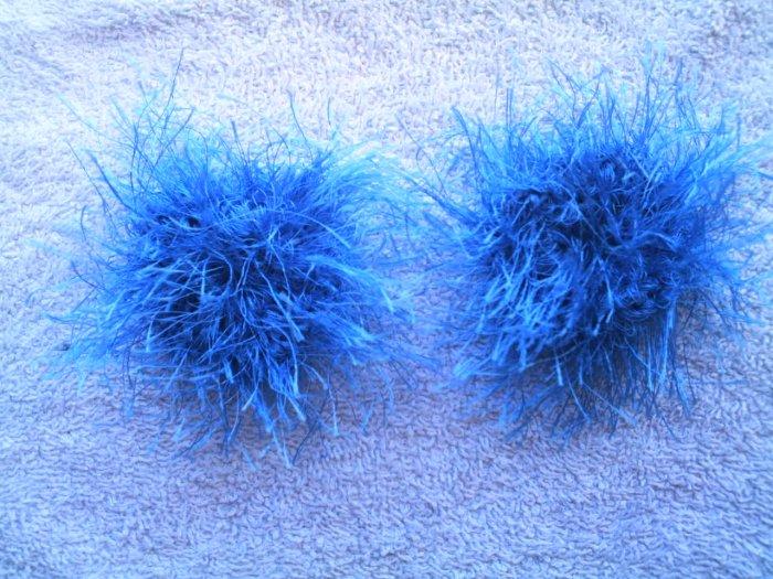 Baby/Toddler  Hair Scrunchie Scrunchies Pair~ Bright Blue~ Free Shipping