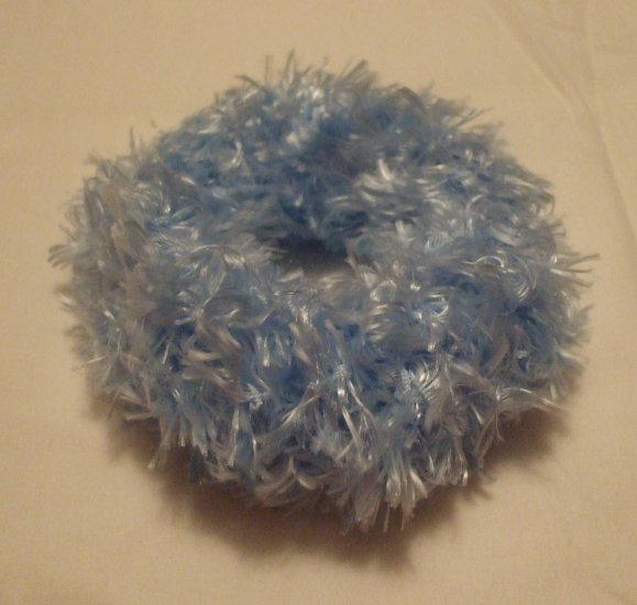 Ponytail Hair Scrunchie~ Light Blue~ Free Shipping