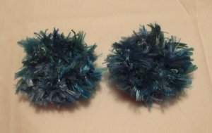Baby/Toddler  Hair Scrunchie Scrunchies Pair~ Peacock~ Free Shipping