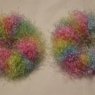 Pigtail Hair Scrunchie Scrunchies Pair~ Bunny Hop~ Free Shipping