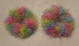 Pigtail Hair Scrunchie Scrunchies Pair~ Bunny Hop~ Free Shipping