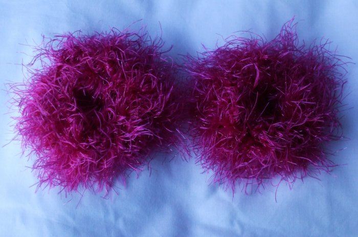 Pigtail Hair Scrunchie Scrunchies Pair~ Fuchsia Fever~ Free Shipping
