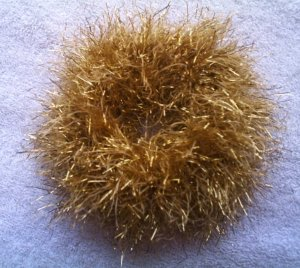 Ponytail Hair Scrunchie~ Get Down Gold~ Free Shipping