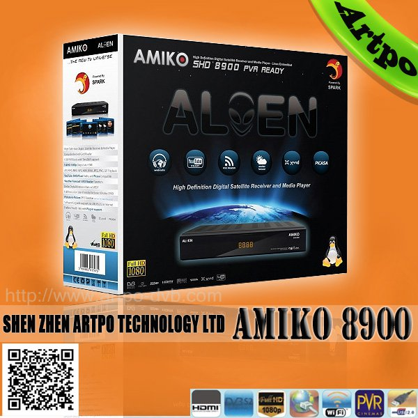 amiko shd-8900 alien dvb s set top box satellite receiver for laptop