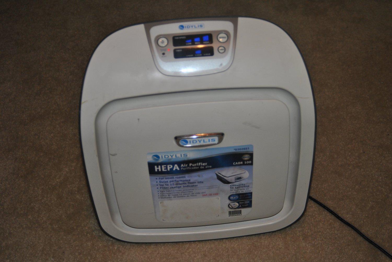 Idylis CADR 100 HEPA Air Purifier 0302651 IAP-10-100 jun17 #H