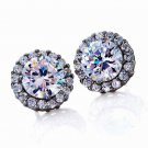 Stud Earrings DiamondAura Lab Created Diamond Crown Sparkle Galore New Gift?