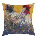 Decorative Pillow Collection Jeff Boutin Artist Chanticleer Rooster 14 x 14 NEW