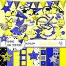 Let's Cheer #5 Yellow & Blue Digital Scrapbooking Kit