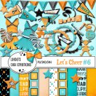 Let's Cheer #6 Turquoise & Orange Digital Scrapbooking Kit