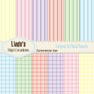 Striped & Plaid Pastels (Digital Paper Pack)