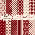 Rubies & Champagne (Digital Paper Pack)