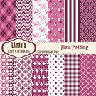 Plum Pudding (Digital paper Pack)