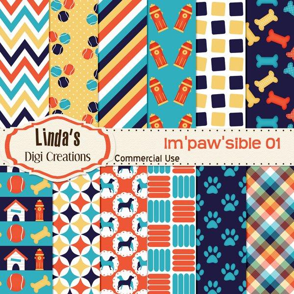 Im'paw'sible 01 (Digital Paper Pack)
