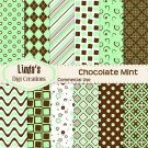 Chocolate Mint (Digital Paper Pack)