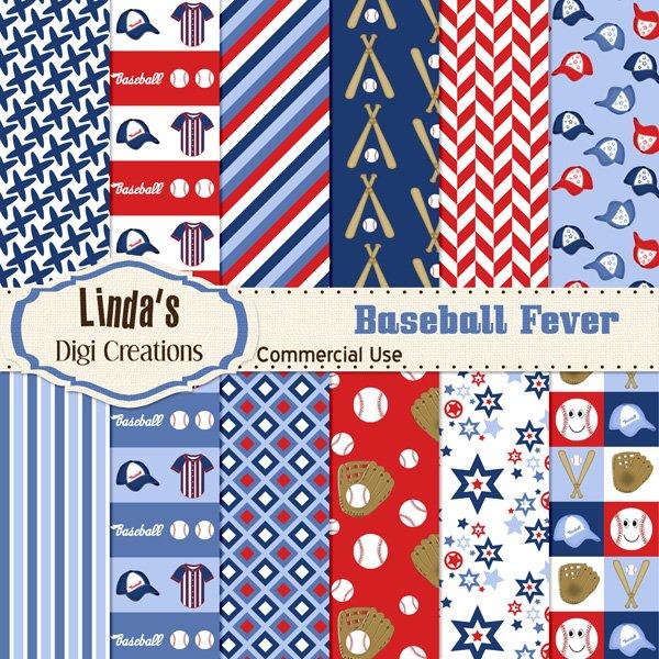 Baseball Fever (Digital Paper Pack)