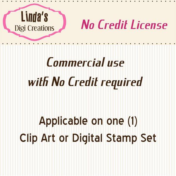 Commercial No Credit License (for Clip Art & Digital Stamp Sets)