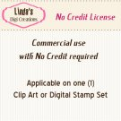 Commercial No Credit License (for Clip Art & Digital Stamp Sets)