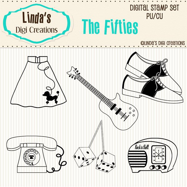 The Fifties (Digi Stamp Set)
