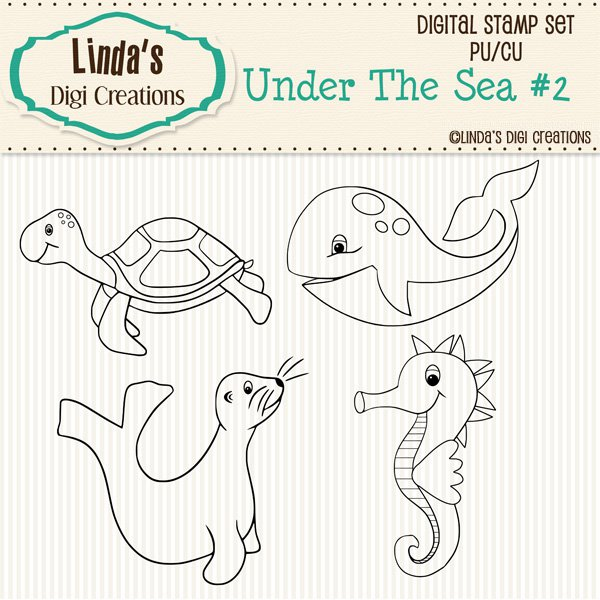 Under The Sea #2 (Digi Stamp Set)