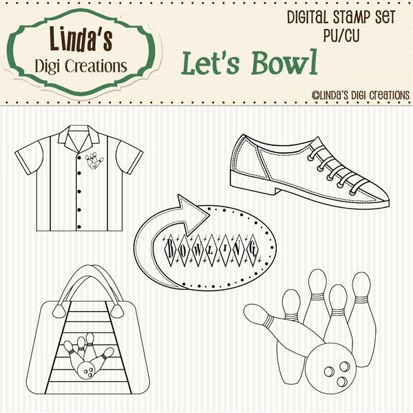 Let's Bowl (Digi Stamp Set)
