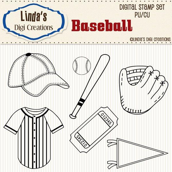 Baseball (Digi Stamp Set)