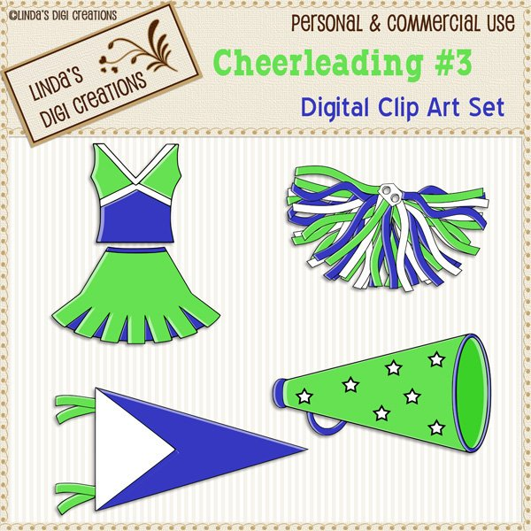 Cheerleading #3 (Clip Art Set)