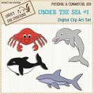Under The Sea #1 (Clip Art Set)