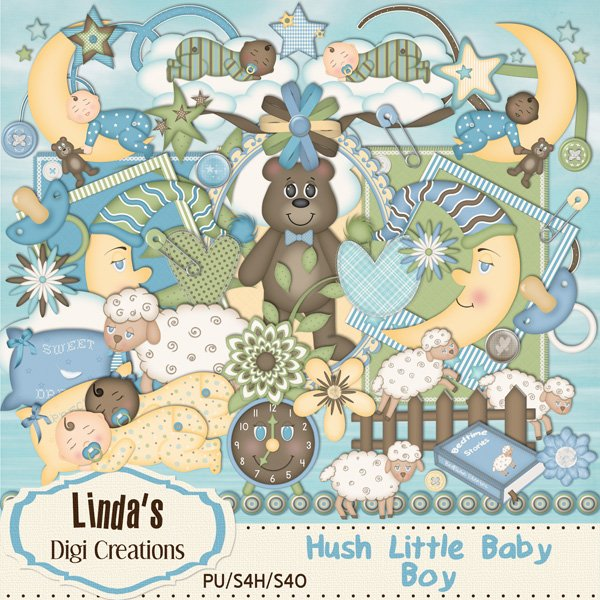 Hush Little Baby-Boy (Digi Scrap Kit)