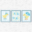 Ducks - Blue Set - Printable Wall Art